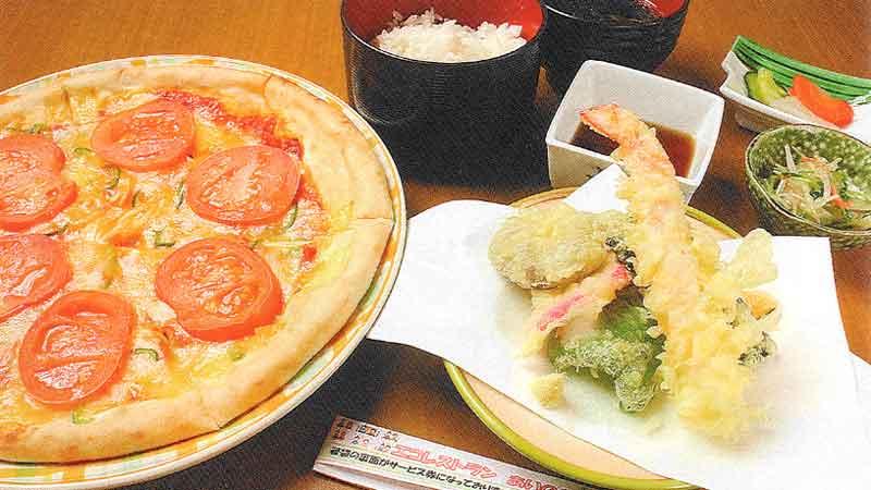 天ぷら定食orトマトピザ