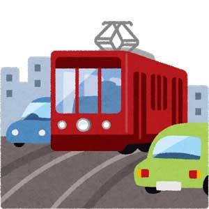 16車と路面電車
