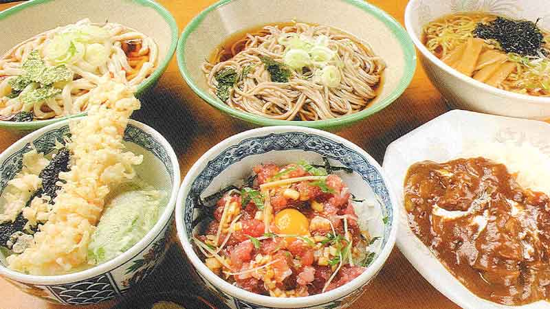 セット専用麺とミニ丼セット