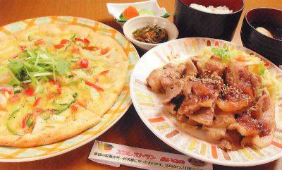 野菜ピザor生姜焼き定食