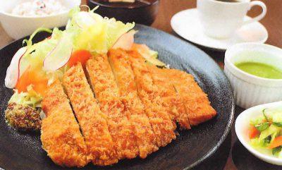 チキンカツ定食(コーヒーセット)