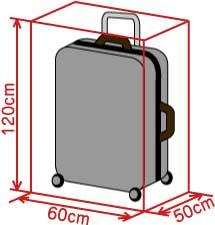 スーツケースサイズJAL国内