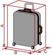 スーツケースサイズ国際