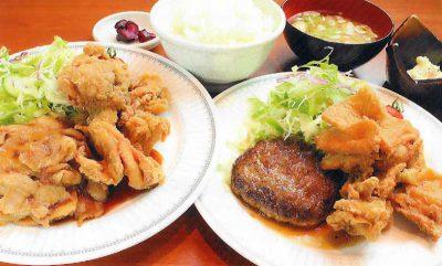 ハンバーグ唐揚げ定食or生姜焼き唐揚げ定食