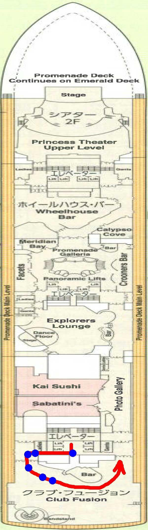 7階船内地図クラブフュージョン