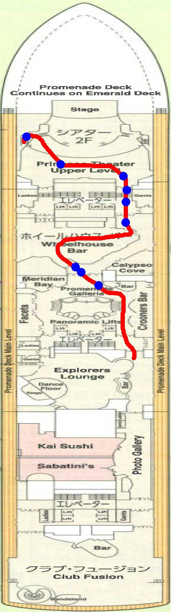 7階船内地図前方付近