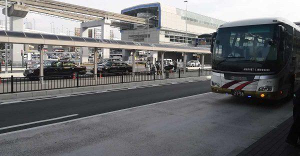 伊丹空港1番バス乗り場バス到着1