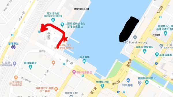 基隆地図バスターミナル