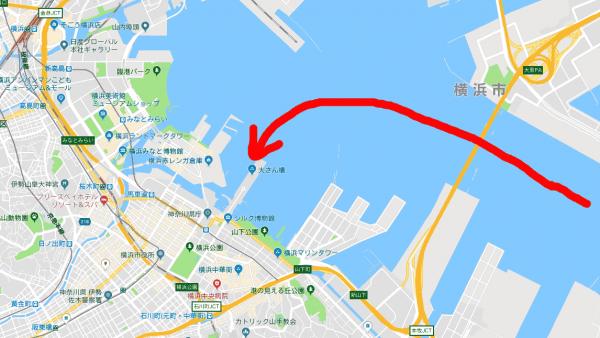 大さん橋地図