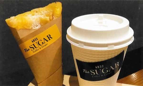 コーヒーとクレープセット