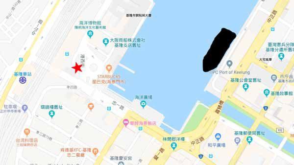 基隆地図台北行きバス停