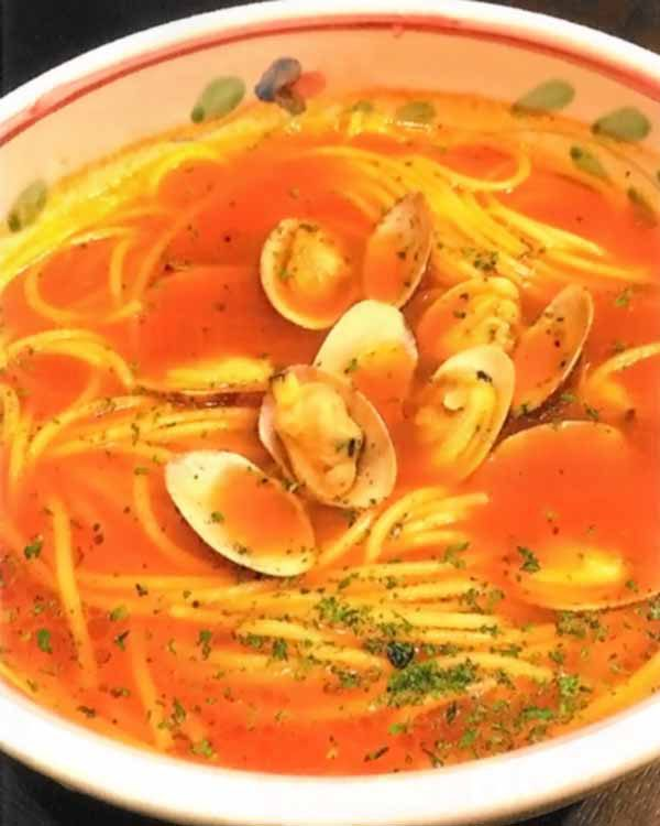 アサリのトマトスープパスタ