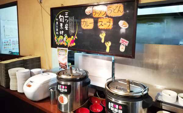 麺とカレーコーナー
