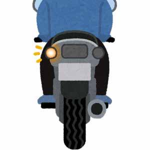 34バイク左折