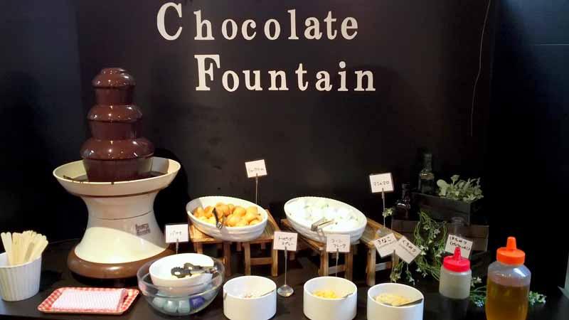 リビアン盛岡南店チョコレートファウンテン