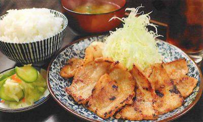 豚バラみそ焼定食(ウーロン茶付)