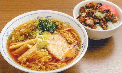 盛岡醤油ラーメンとミニチャーシュー丼セット
