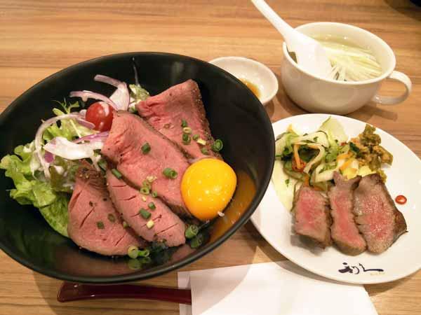 牛たんローストビーフ丼セット