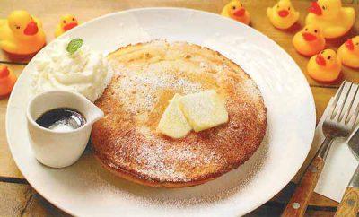 バター&メープルシロップのパンケーキ