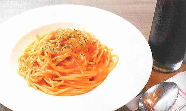 モッツァレラチーズのトマトクリームソース選べるドリンクセット