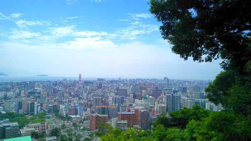 城山公園展望台からの景色