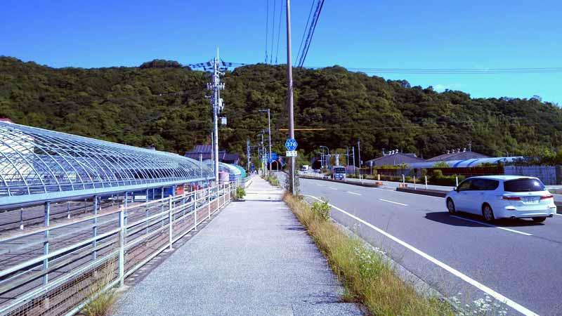 高知バス停へ2