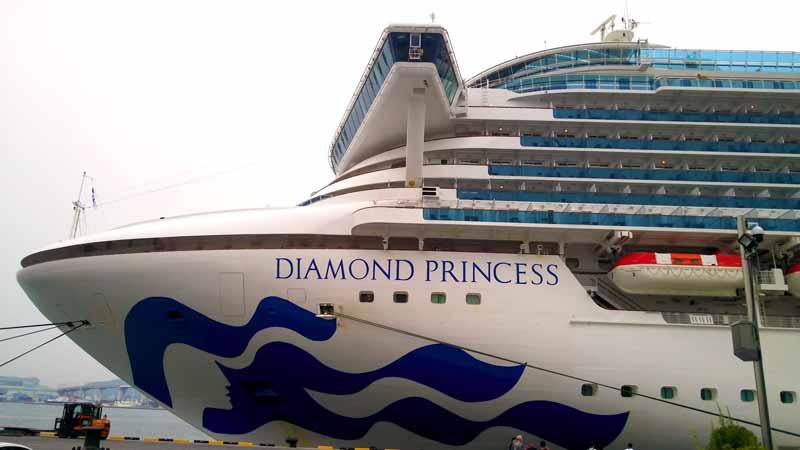 停泊中のダイヤモンドプリンセス