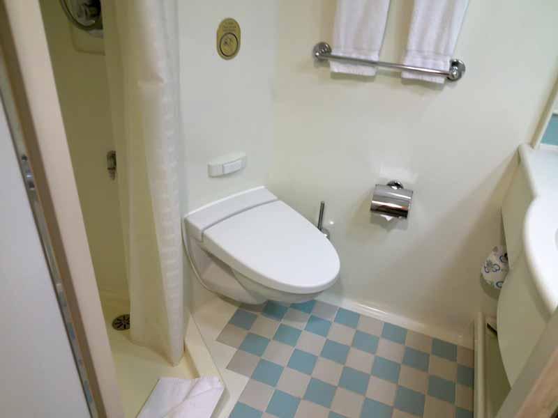 ダイヤモンドプリンセス海側客室トイレ