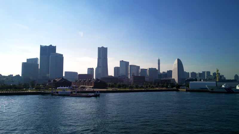 ダイヤモンドプリンセスから見る横浜