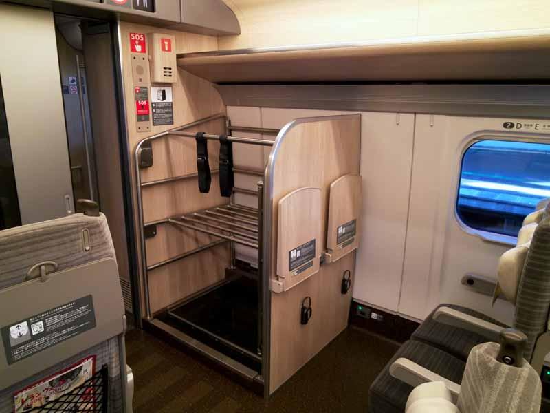 E5系やまびこスーツケース置き場