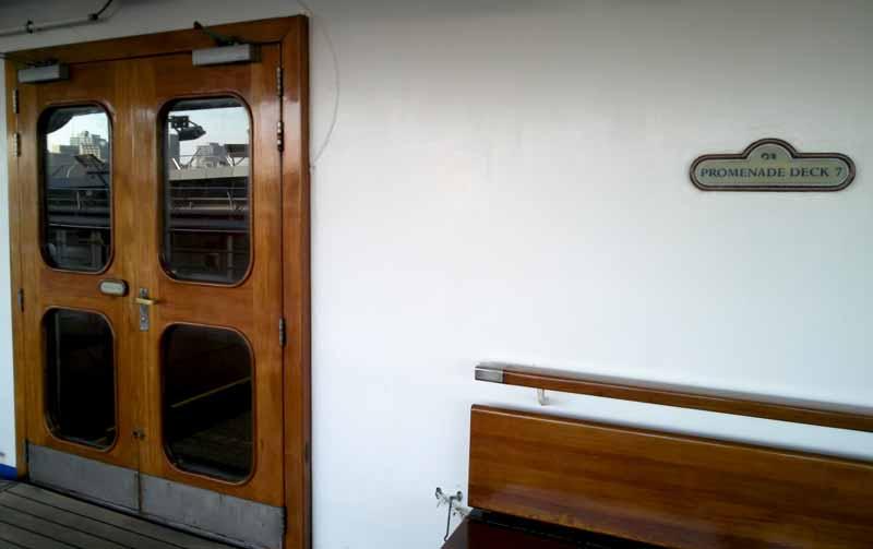 7階右舷前方プロムナードデッキ